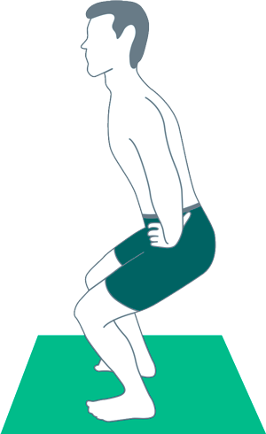 The right principles of exercise - a slight squat